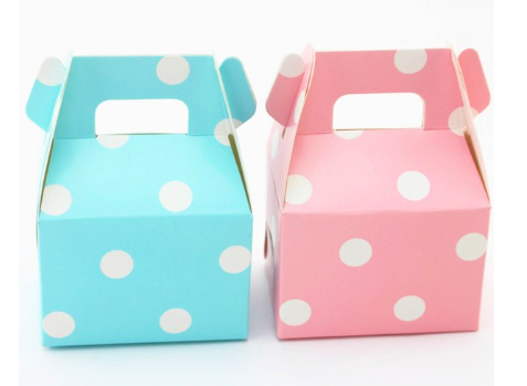 candy bar box blau